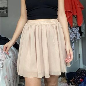 American apparel chiffon mini skirt